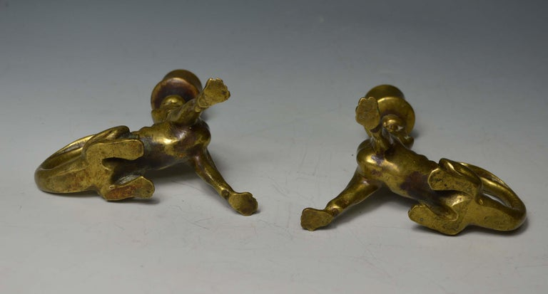 Rare South German Mythological Animal Candleholders 18th Century or Earlier For Sale 1