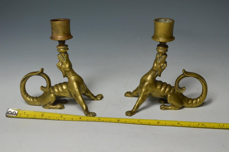 Rare South German Mythological Animal Candleholders 18th Century or Earlier For Sale 3