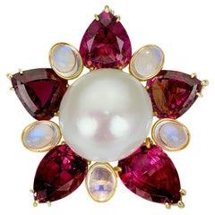 Rare South Sea Pearl Brooch/Pendant by Prince Dimitri