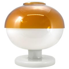 Rare Space Age Double Layered Large Glass Table Lamp, 1970s