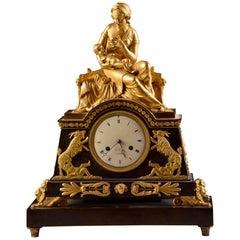 "Rare Spectaculaire Large ""Mother love"" Empire Pendulum, Le Roy, Fr, circa 1800"