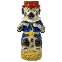 Rare Staffordshire Mr Punch's Dog 'Toby' Jug, circa 1860