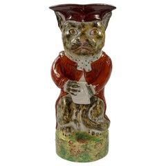 Rare Staffordshire Pottery Cat Jug, c. 1860