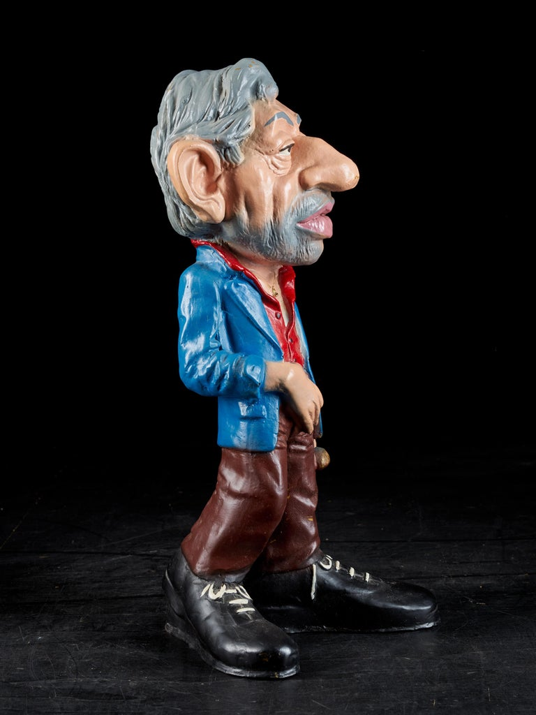 Rare Statue Figurine Effigie Caricature of Serge Gainsbourg In Good Condition For Sale In Leuven , BE