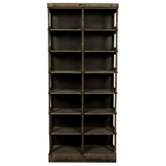 Rare Steel Industrial Shelf Manufactured by Strafor, France, circa 1930