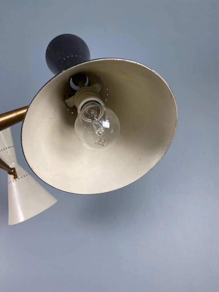 Rare Stilnovo Floor Lamp Three Arms Brass, Italy, 1950s For Sale 4
