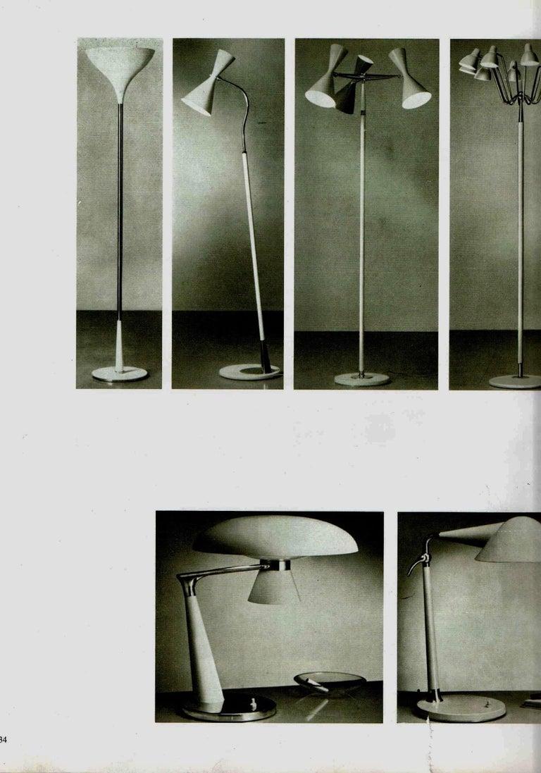 Rare Stilnovo Floor Lamp Three Arms Brass, Italy, 1950s For Sale 10