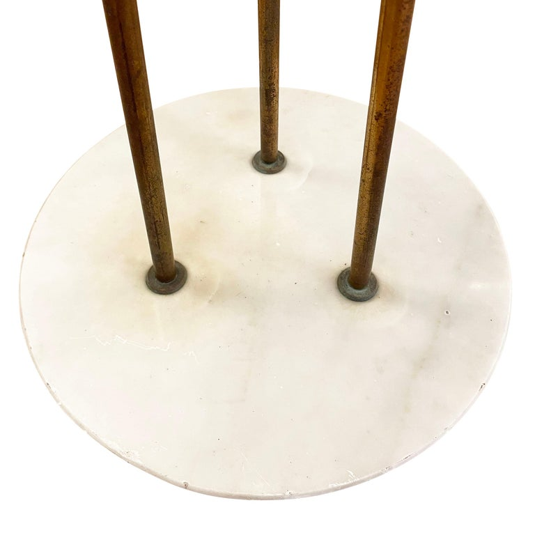 Rare Stilnovo Floor Lamp with Textured Glass, Marked In Good Condition For Sale In New York, NY