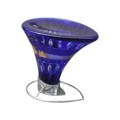 Rare Stool in Crystal from Val St Lambert