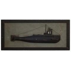 Rare Submarine Half Hull, circa 1940