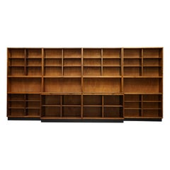 Rare Suite of Four 1940s Myers Old Street Shop Pharmacy Cabinets or Bookcases