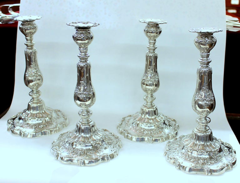 Superb and rare suite of four LARGE and Impressive American Gorham STERLING