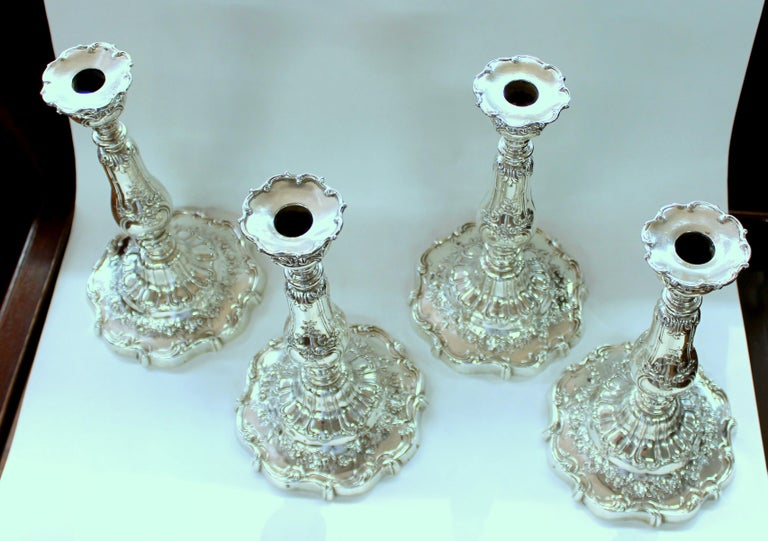 Hand-Crafted Rare Suite of Four Gorham Sterling