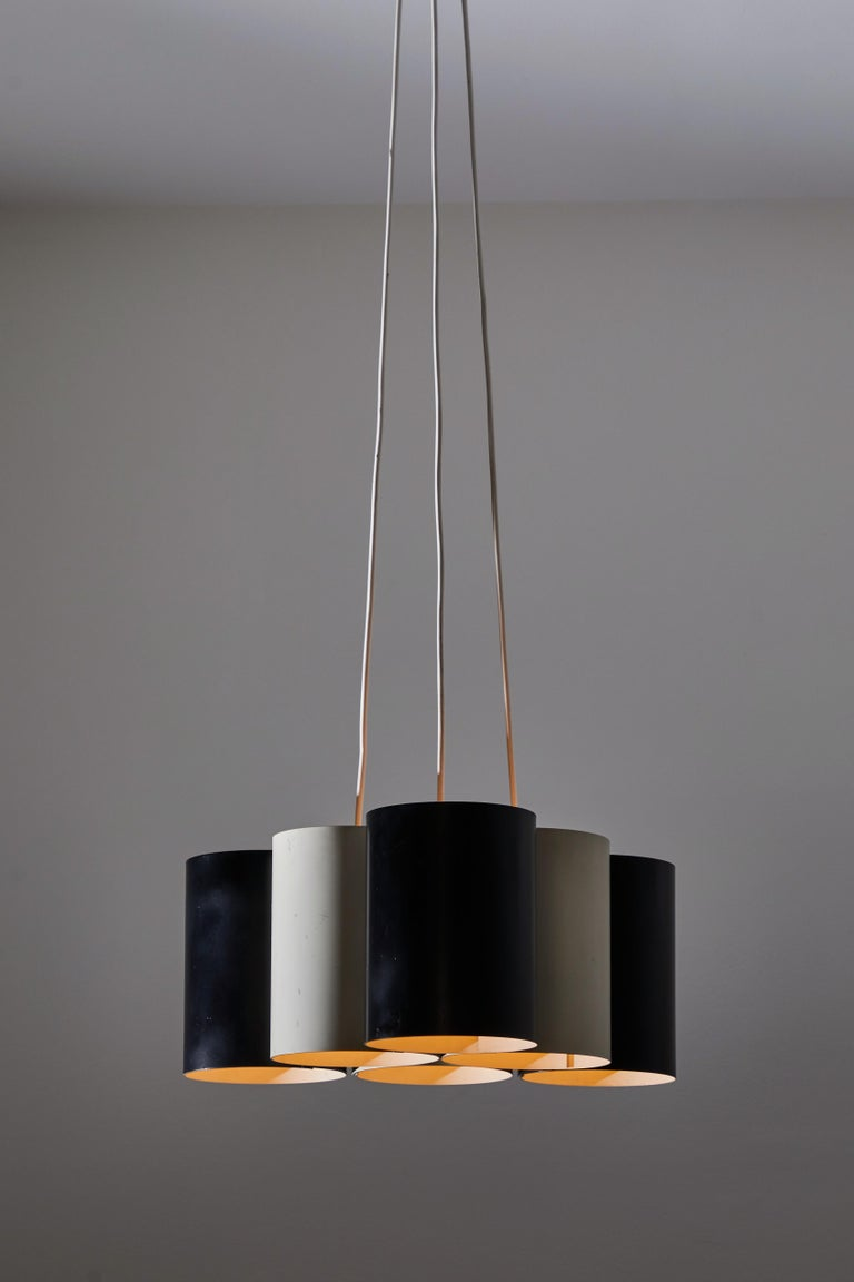 Italian Rare Suspension Light by Stilnovo For Sale