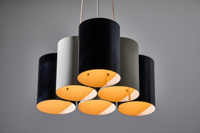 Rare Suspension Light by Stilnovo In Distressed Condition For Sale In Los Angeles, CA
