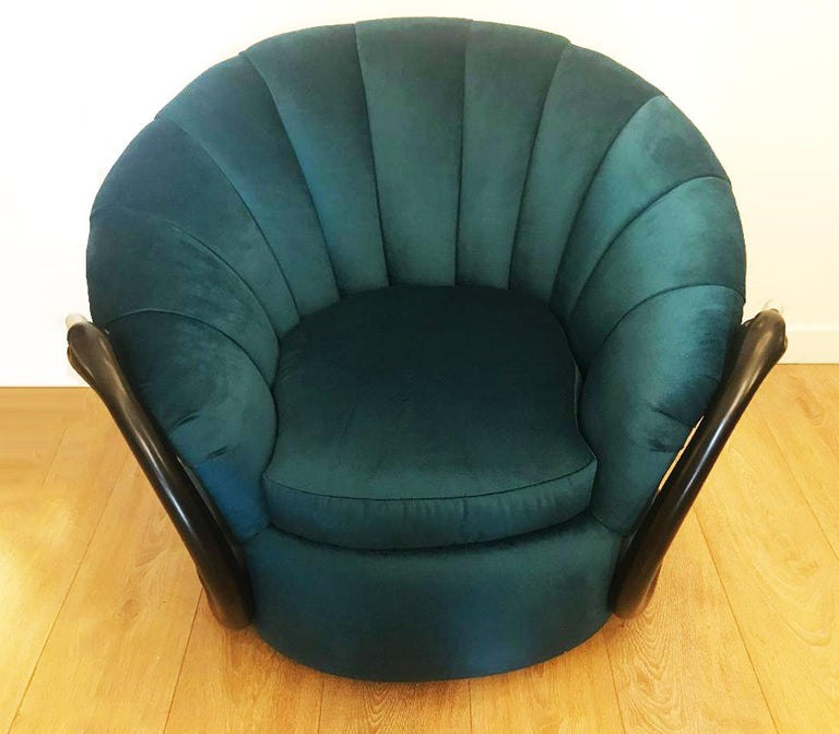 Rare Swan Leda Lounge Chair by Suzanne Geismar For Sale 1