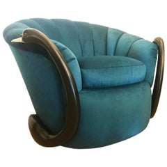 Rare Swan Leda Lounge Chair by Suzanne Geismar