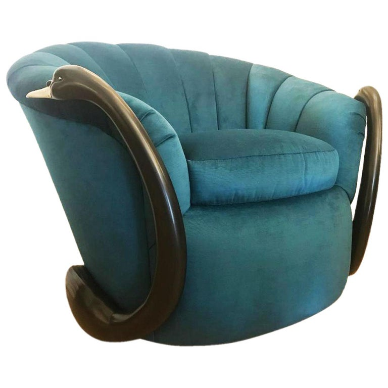 Rare Swan Leda Lounge Chair by Suzanne Geismar For Sale