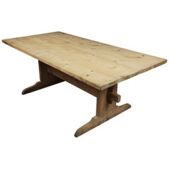Rare Swedish Farm Table, circa 1850