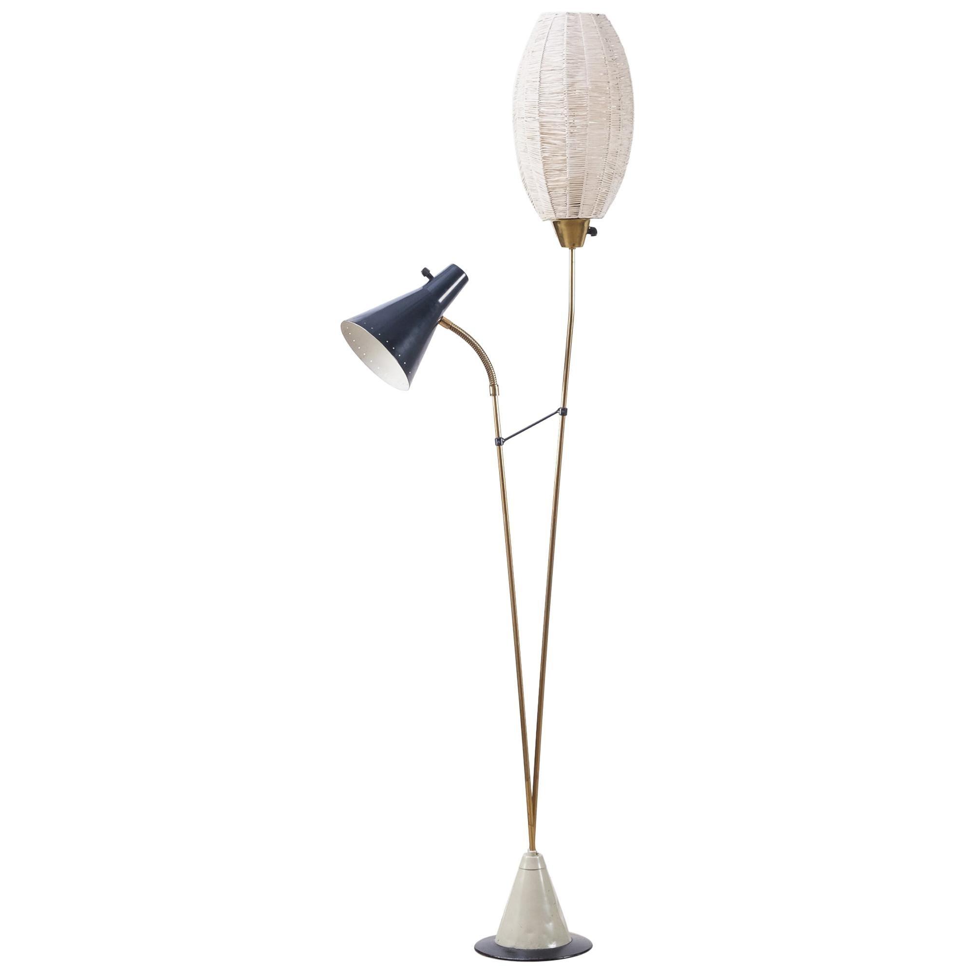 Rare Swedish Floor Lamp, 1950s