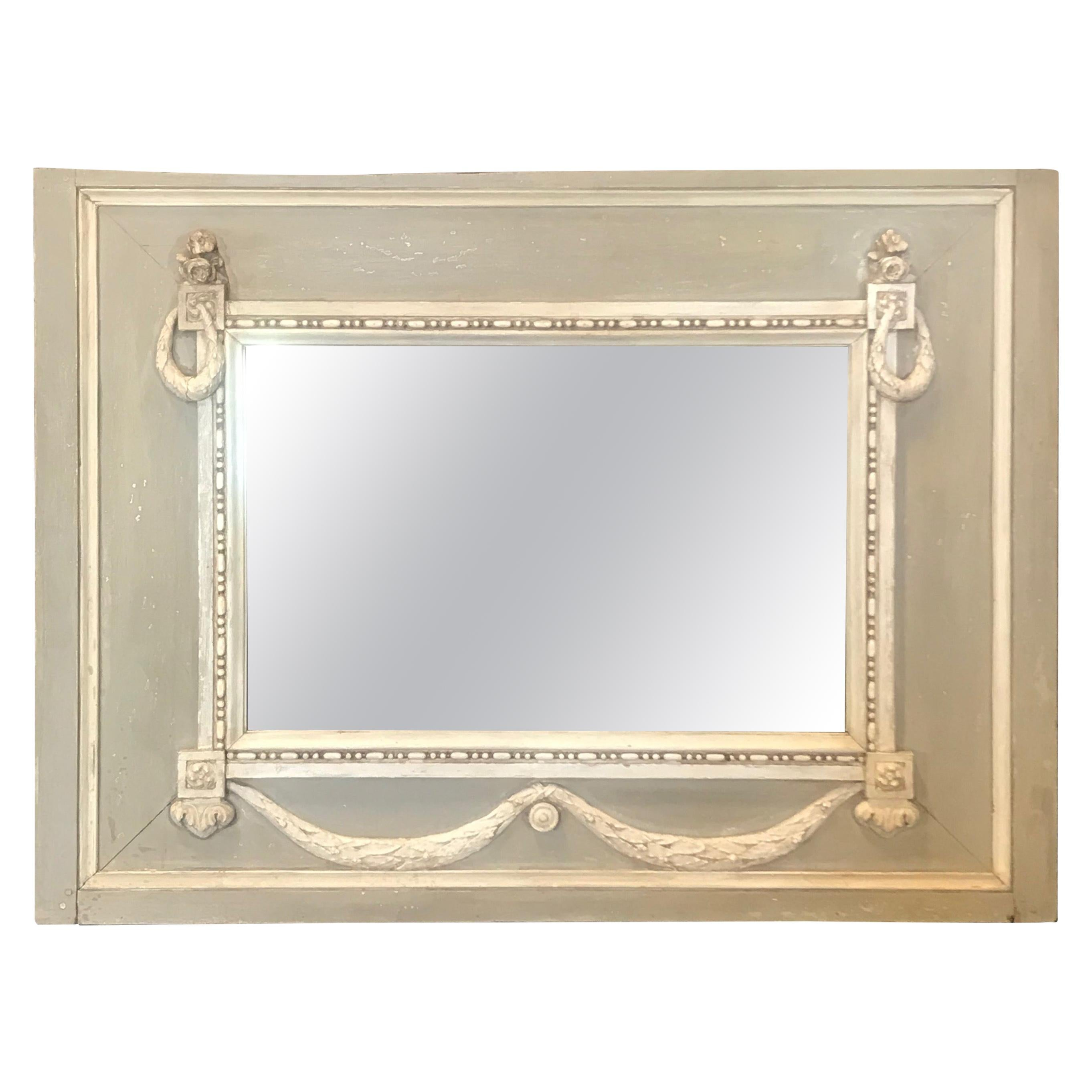 Rare Swedish Gustavian Trumeau Mirror