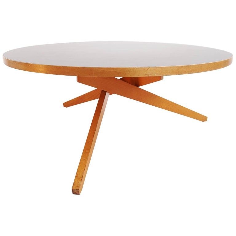 Rare Swiss Design 1956 Coffee Table Convertible Into Dining Table