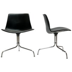 Rare Swivel Desk Chair by Jorgen Kastholm & Preben Fabricius by Bo-Ex, Denmark
