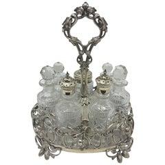 Rare T. Elkington Victorian Silver Plated British Table Cruet Set, 1870
