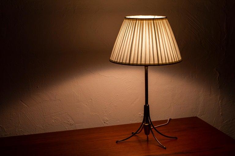 Rare Table Lamp by Bertil Brisborg for Nordiska Kompaniet, Sweden, 1950s For Sale 3
