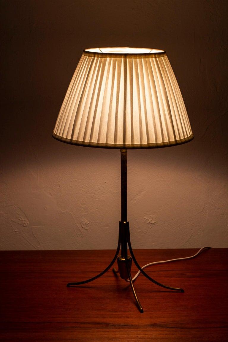Rare Table Lamp by Bertil Brisborg for Nordiska Kompaniet, Sweden, 1950s For Sale 1