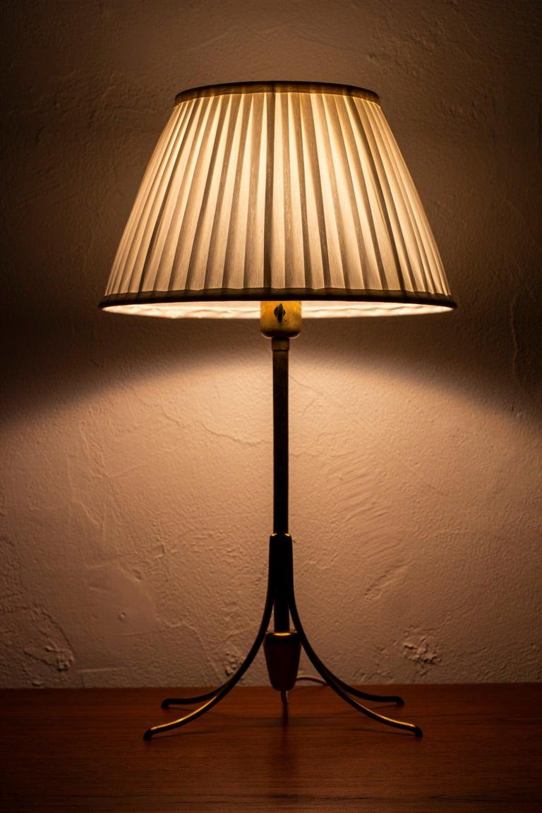 Rare Table Lamp by Bertil Brisborg for Nordiska Kompaniet, Sweden, 1950s For Sale 2