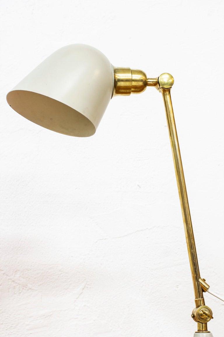 Rare Table Lamp by Bertil Brisborg Fro Nordiska Kompaniet NK, Sweden, 1940s For Sale 4