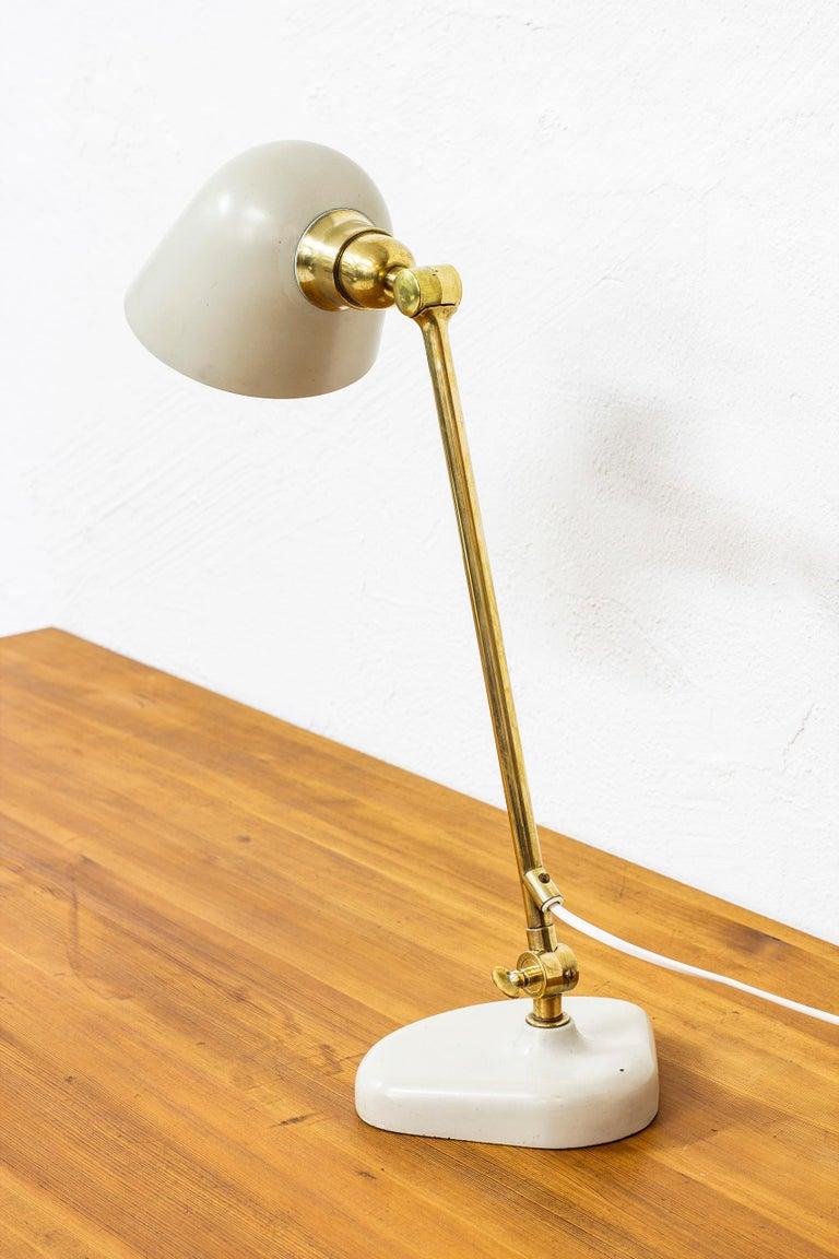 Swedish Rare Table Lamp by Bertil Brisborg Fro Nordiska Kompaniet NK, Sweden, 1940s For Sale