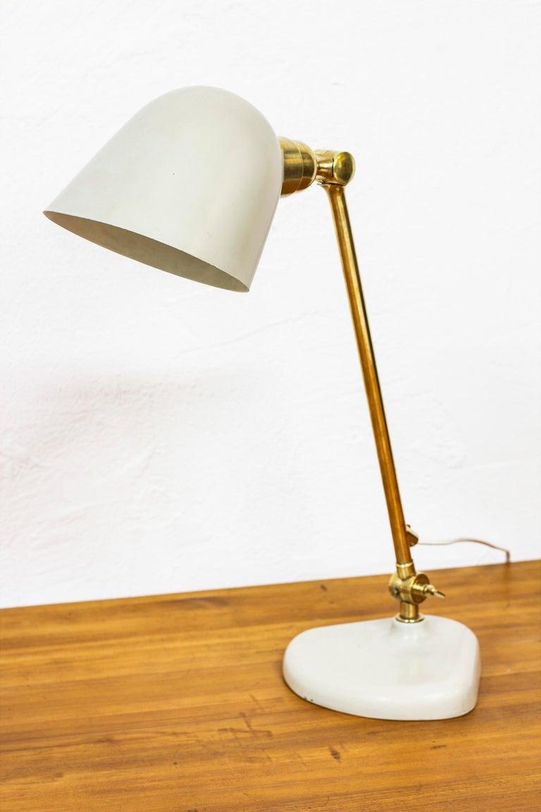 Rare Table Lamp by Bertil Brisborg Fro Nordiska Kompaniet NK, Sweden, 1940s In Good Condition For Sale In Stockholm, SE
