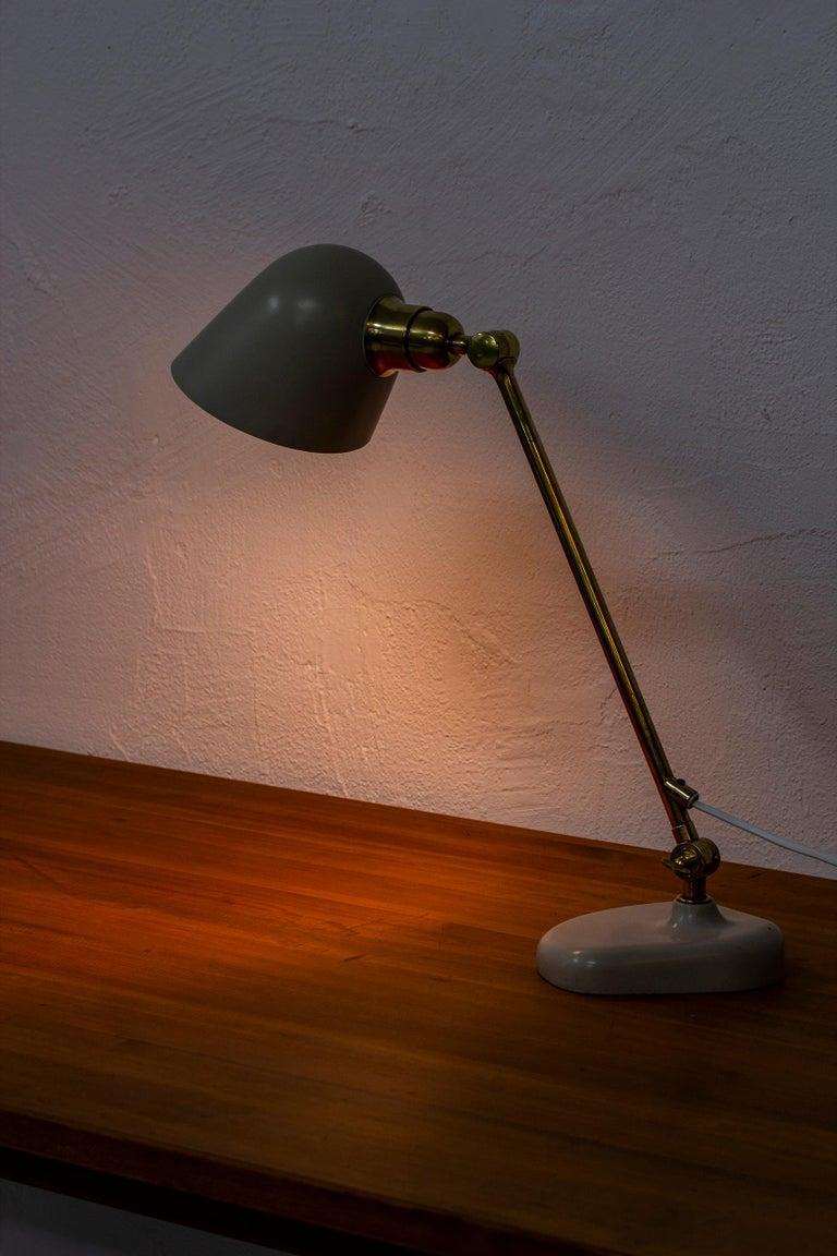Mid-20th Century Rare Table Lamp by Bertil Brisborg Fro Nordiska Kompaniet NK, Sweden, 1940s For Sale