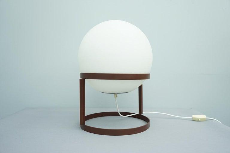 Mid-Century Modern Rare Table Lamp 'Tischkugellampe' by Carl Auböck, 1969 For Sale