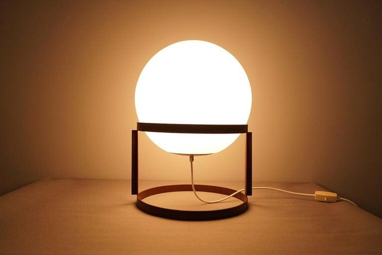 Austrian Rare Table Lamp 'Tischkugellampe' by Carl Auböck, 1969 For Sale