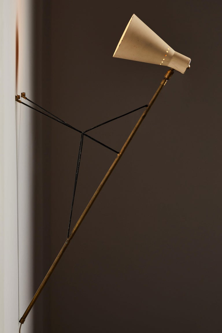 Mid-Century Modern Rare Table or Wall Light by Stilnovo For Sale