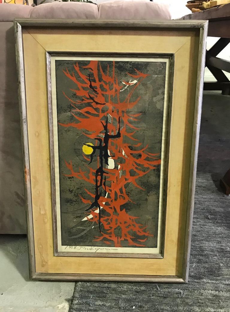 Tadashi Nakayama Rare Early Japanese Woodblock Print