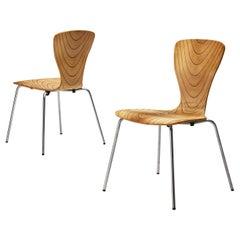 Rare Tapio Wirkkala Pair of Dining Chairs