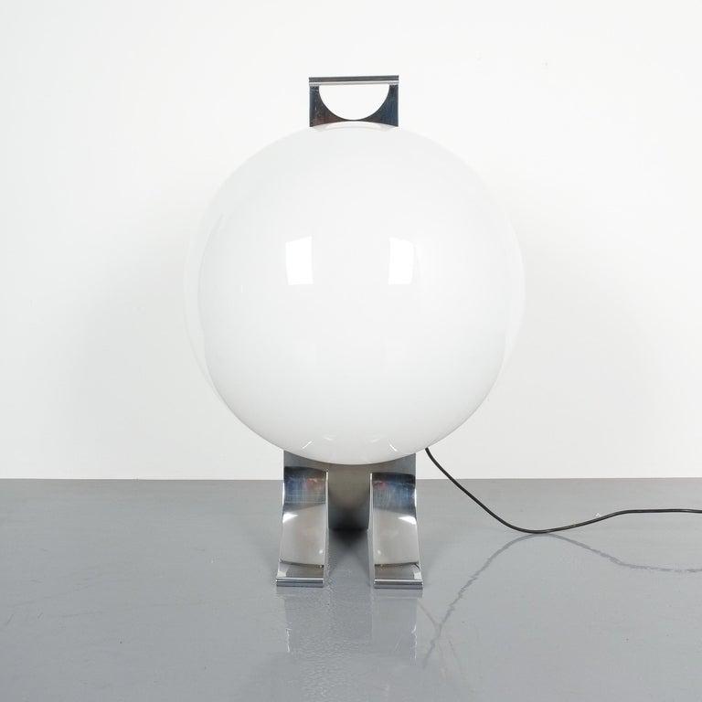 Mid-Century Modern Rare Tetrarch Design Studio Table Light Chrome Lucite for Valenti, circa 1970 For Sale