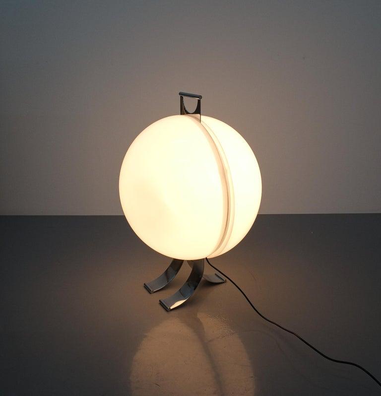 Late 20th Century Rare Tetrarch Design Studio Table Light Chrome Lucite for Valenti, circa 1970 For Sale