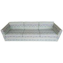 Rare Thayer Coggin or Milo Baughman Chrome Sofa