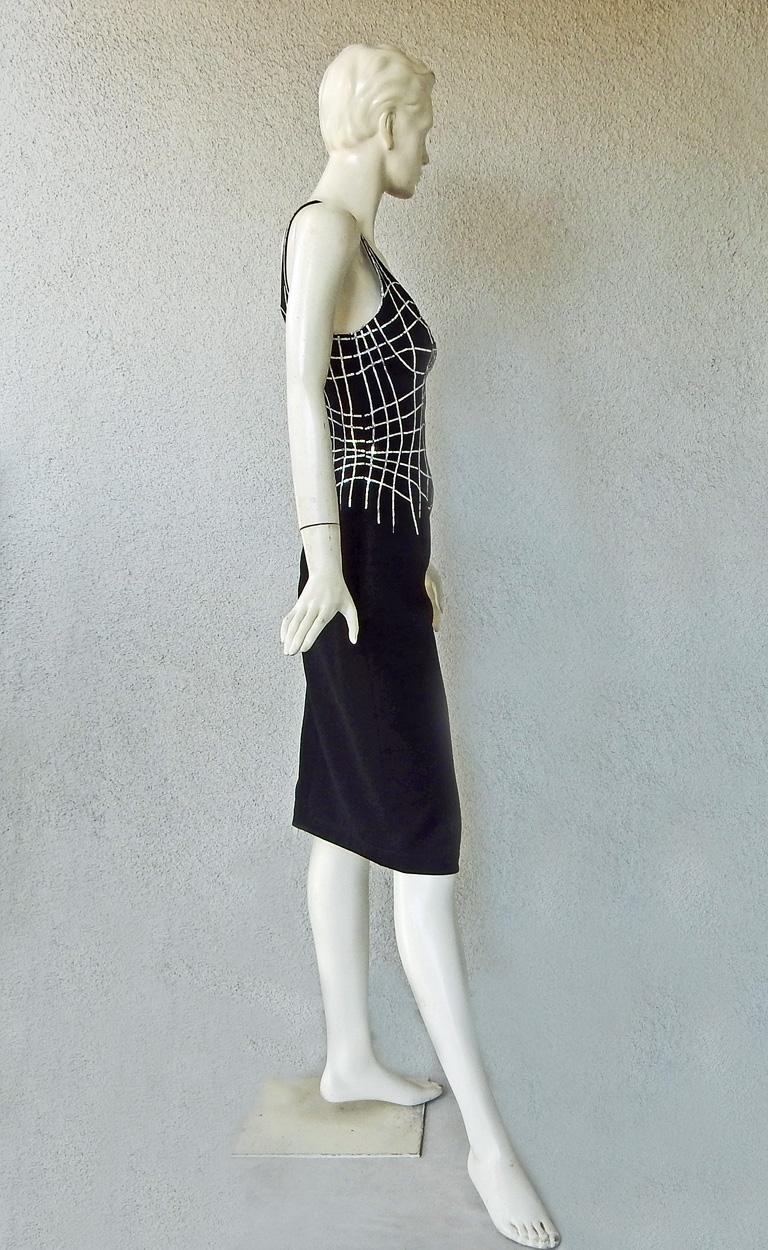 Women's Rare Thierry Mugler Couture Vintage Form Fitting Evening Dress For Sale