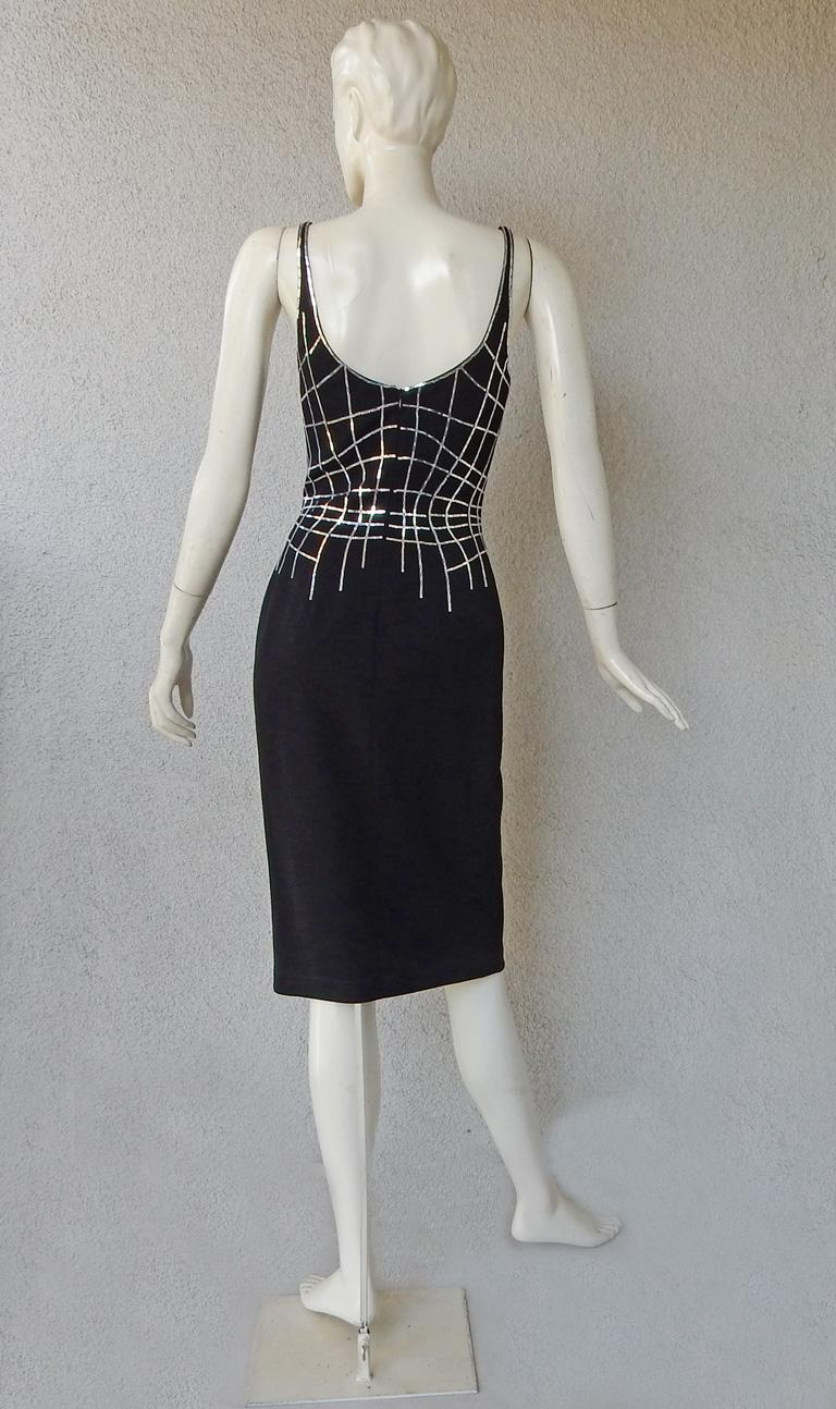 Rare Thierry Mugler Couture Vintage Form Fitting Evening Dress For Sale 1