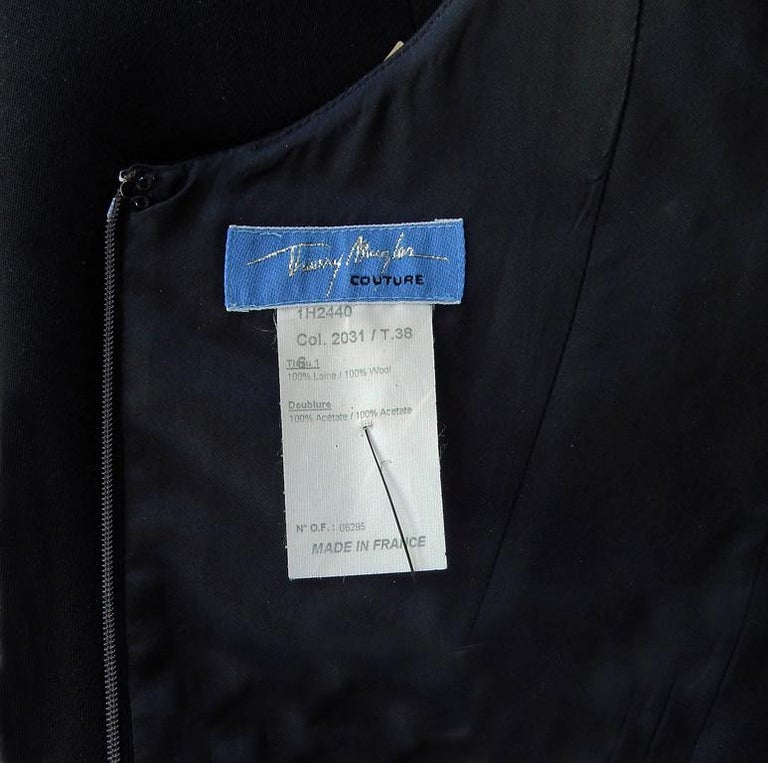 Rare Thierry Mugler Couture Vintage Form Fitting Evening Dress For Sale 3