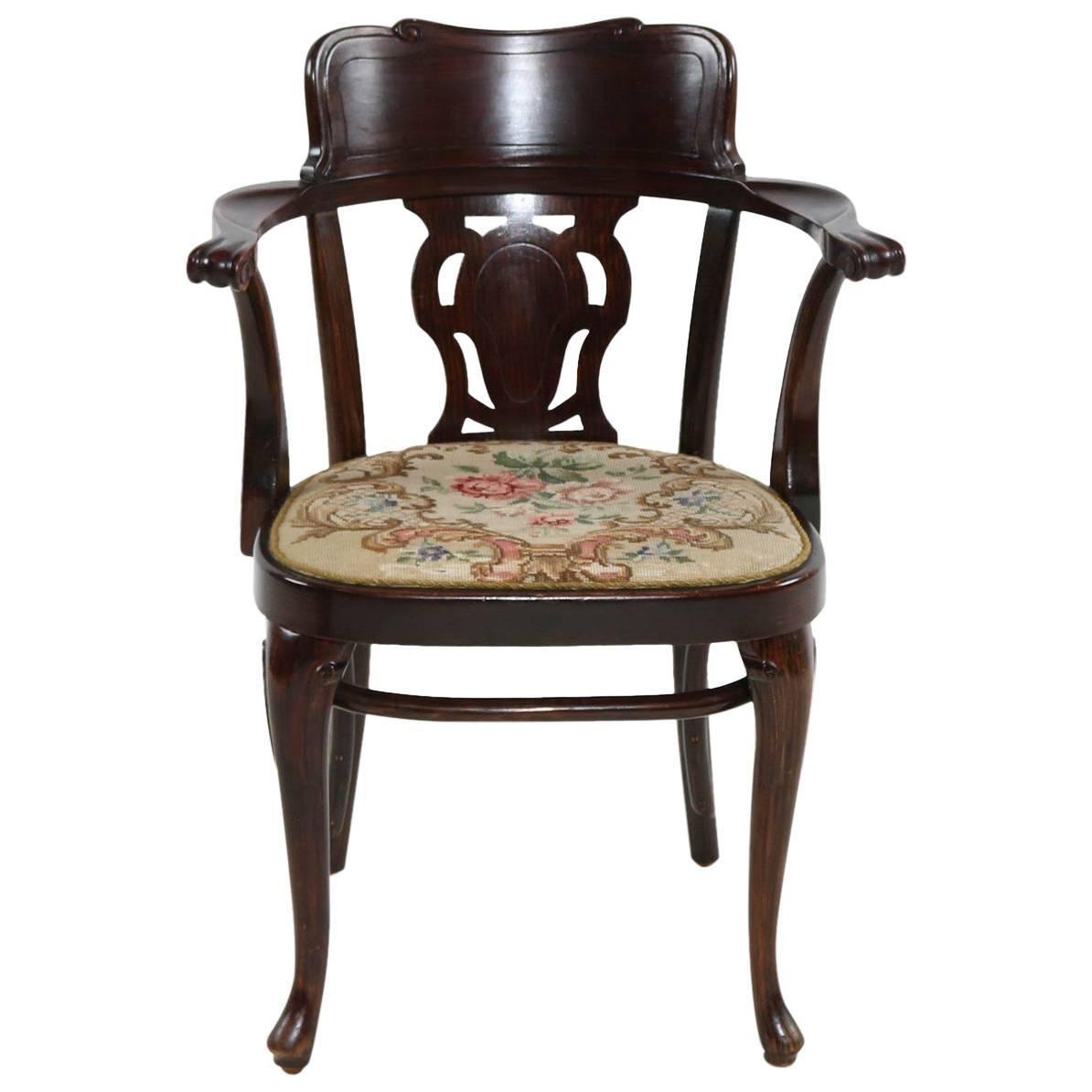 Rare Thonet Armchair Desk Chair