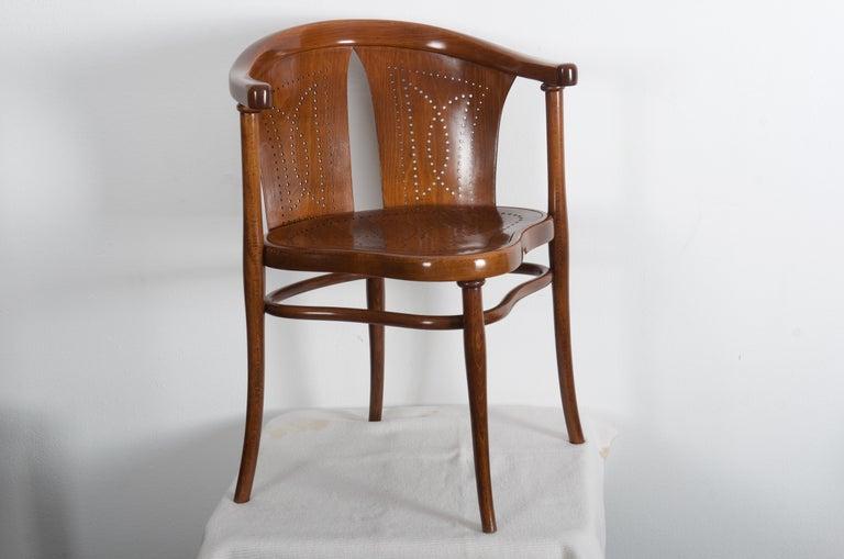 Rare Thonet Armchair Desk Chair Nr. 1 For Sale 4