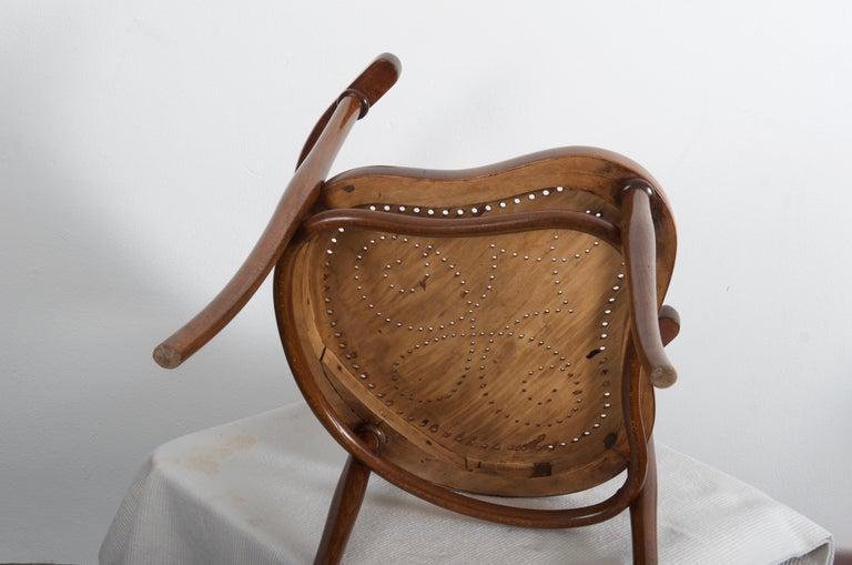 Rare Thonet Armchair Desk Chair Nr. 1 For Sale 8
