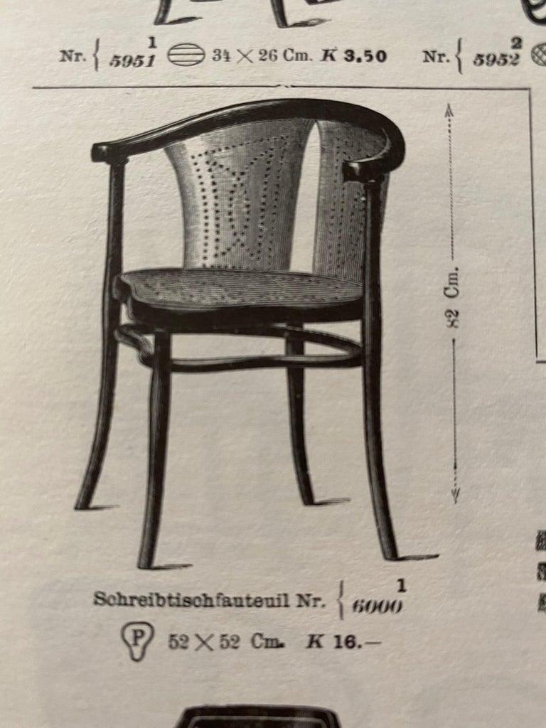 Rare Thonet Armchair Desk Chair Nr. 1 For Sale 9